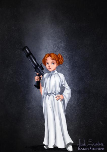 Qui est cette héroïne Disney qui se prend pour la princesse Leïa ?