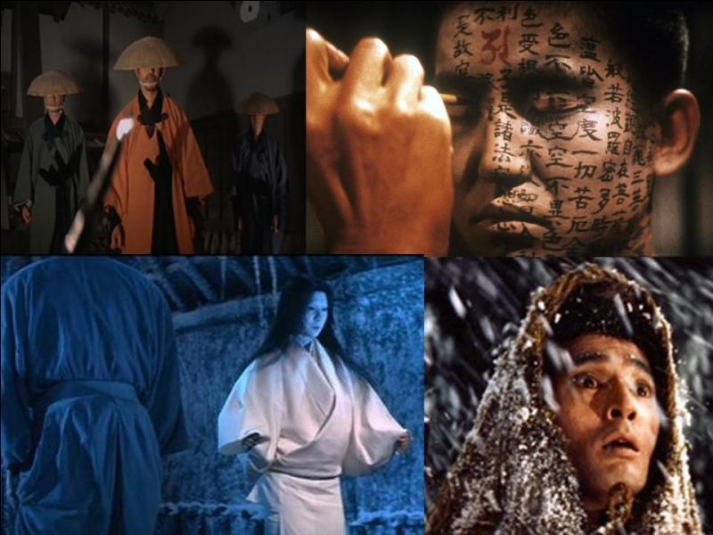 C'est un film fantastique japonais de 1964, il a été réalisé par Masaki Kobayashi.Rentaro Mikuni, Tatsuya Nakadai, Katsuo Nakamura, Kanemon Nakamura… font partie de la distribution. Ce film contient 4 épisodes concernant l'abandon d'une épouse, un meurtre, l'épopée d'une bataille, et un fantôme dans un bol de thé ! Quel est ce film ?