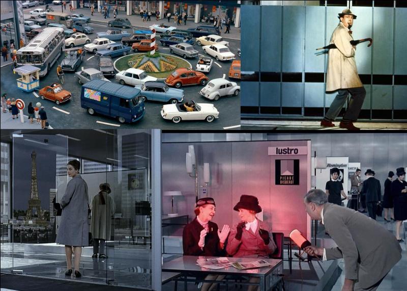 C'est une comédie franco-italienne de 1967, il a été réalisé par Jacques Tati.Jacques Tati, Barbara Dennek, Jacqueline Lecomte… font partie de la distribution. Un homme à l'imperméable cherche à rencontrer son patron. Il n'y arrivera pas. Il rencontrera, à la place, une jeune touriste américaine…Quel est ce film ?