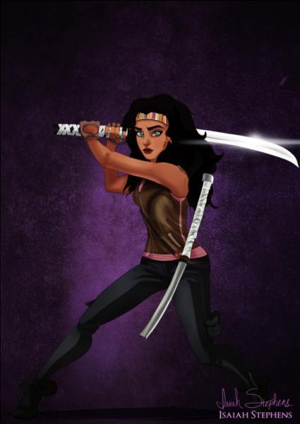 Esméralda est devenue Michonne, un des personnages principaux de la série télévisée :