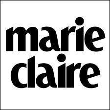 Marie Claire est un prénom féminin. C'est aussi le nom...