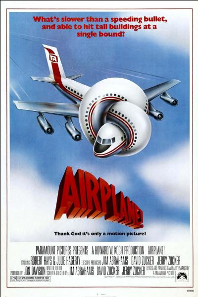 Airplanes en anglais est une parodie de film catastrophe aérien. Quel en est le titre en français ?