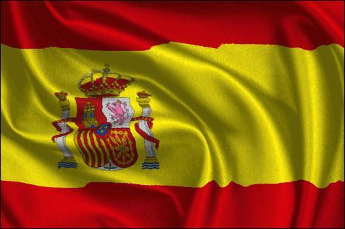 Dans ce pays, on peut visiter de grandes villes comme Madrid et Barcelone. À quel pays correspond ce drapeau ?