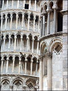 À partir de quel étage la tour de Pise a-t-elle commencé à pencher ?
