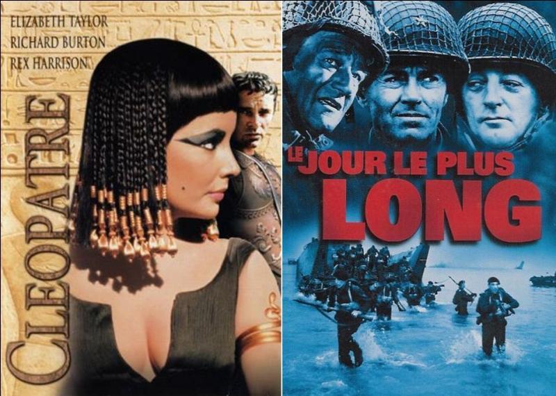 La production de ce film sauva la « Twentieth Century Fox » et lui permit d'éviter la faillite.Quelle est la raison de cette faillite évitée ?