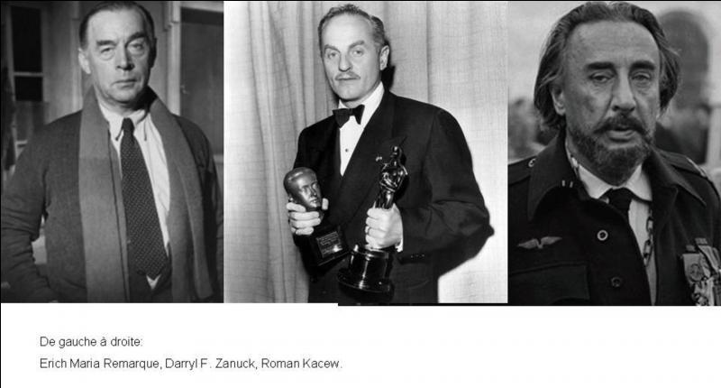 Deux personnalités ont participé à l'écriture du scénario. Les deux sont des écrivains renommés, l'un des deux est également un diplomate. Lequel de ces trois personnes n'a pas participé à l'écriture du scénario ?
