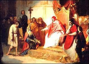 Qui humilia Henri IV à Canossa en 1077 ?