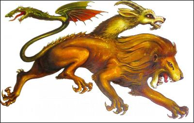 Ce drôle d'animal possède une tête de lion, un corps de chèvre, une queue de serpent et parfois une autre tête de chèvre. Comment s'appelle-t-elle ?