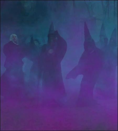Un dernier élément vient compléter le spectacle macabre ; il rôde entre les stèles et la putréfaction... Les théâtres classiques ont un souffleur, Voldemort a...