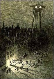 """Quel écrivain confronte l'humanité et une race extraterrestre hostile dans son roman """"La Guerre des mondes"""" en 1898 ?"""