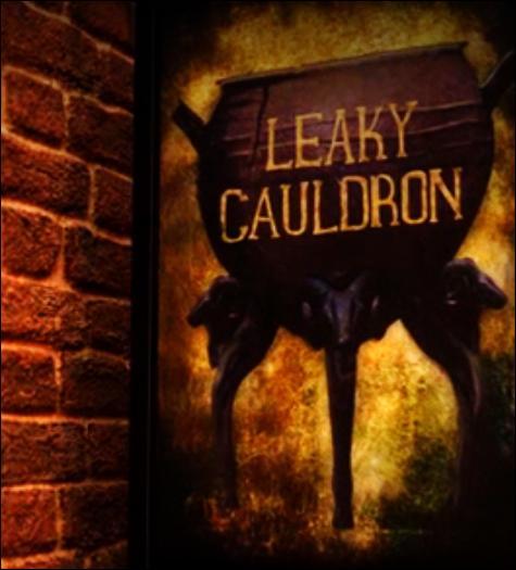 Rogue se rend à l'auberge du Chaudron Baveur pour faire le point sur ses recherches. Aperçue dans Harry Potter et le Prisonnier d'Azkaban, sur quel lieu donne-t-elle ?