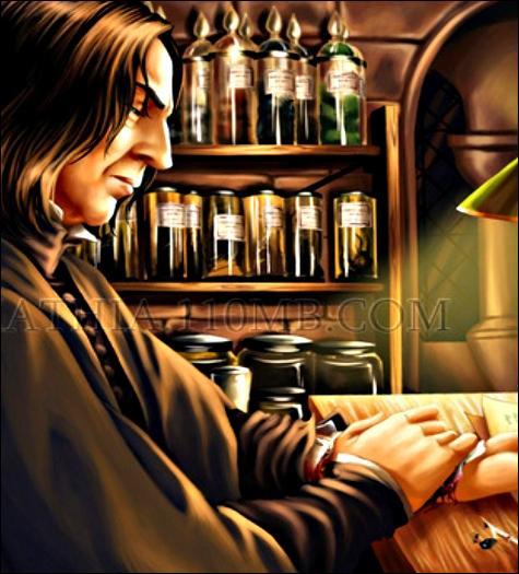 Minuit. Severus Rogue se réveille en sueur. La Marque des Ténèbres le brûle. La voix du Seigneur des Ténèbres lui parle. Est-il vivant ? Dans la saga, quel personnage a coutume de se réveiller en sueur après de mauvais rêves ?