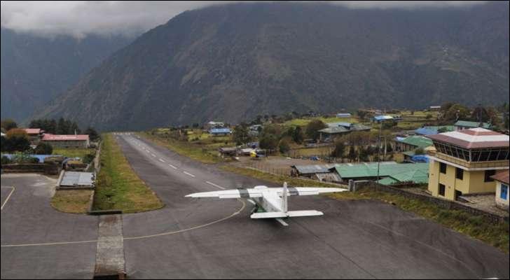 L'aéroport de Tenzing (Népal) est là pour toutes vos frayeurs : montagnes, brume, vent violent, altitude, piste courte... Mais quel est son nom ?