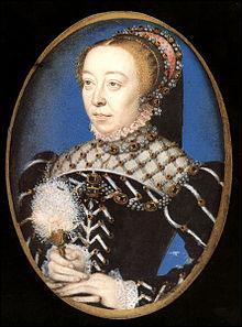 Une légende noire persistante dépeint cette reine de France, épouse d'Henri II, comme une personne acariâtre, jalouse du pouvoir, ne reculant devant aucun crime pour conserver son influence. Qui est-elle ?