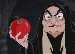 - Vous êtes aussi sotte que votre mère ! Ce qu'il faut faire, c'est l'empoisonner. En me déguisant en vieille femme, je peux lui faire croquer dans un fruit empoisonné. Avec Blanche-Neige, j'avais utilisé...
