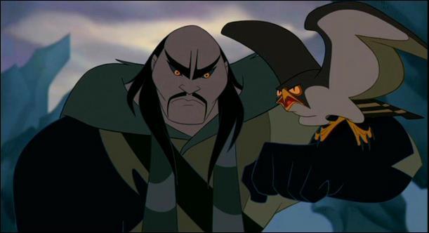 Shan Yu, dans Mulan a une fin plutôt explosive.