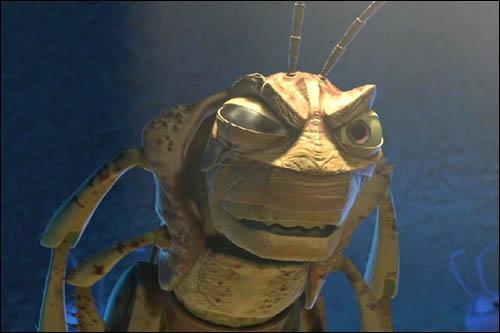 Le Borgne, dans 1001 pattes, fait travailler les fourmis comme des forcenés, cependant à la fin, il va tomber sur beaucoup plus costaud que lui et va mourir. Comment ?