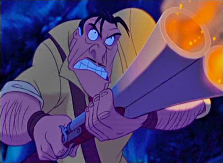Dans Tarzan, c'est la rage et la colère qui vont tuer Clayton.