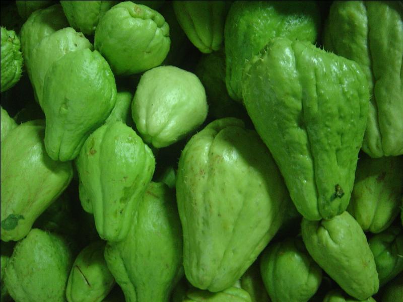 Fruits de La Réunion, les chayotes sont encore appelées...