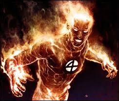 """Quel est le vrai nom de la """"Torche humaine"""" qui est un super-héros faisant partie des """"Quatre Fantastiques"""" ?"""