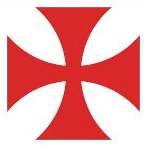 À quel ordre religieux appartient cet emblème ? (Créé lors du concile de Troyes, le 13 janvier 1129, à l'initiative du pape Honorius II, il avait pour principal but d'accompagner et de protéger les pèlerins allant à Jérusalem. Ce dernier fut dissous sous le pontificat de Clément V, le 13 mars 1312) .