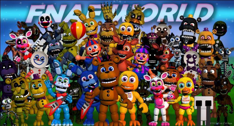 Comment seront appelés les nouveaux animatronics pour FNAF World ?