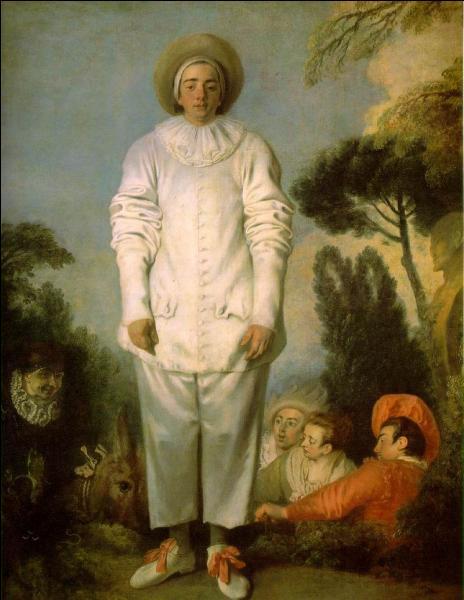 J'ai un habit blanc à pompons et une collerette en dentelle. Je m'appelle...