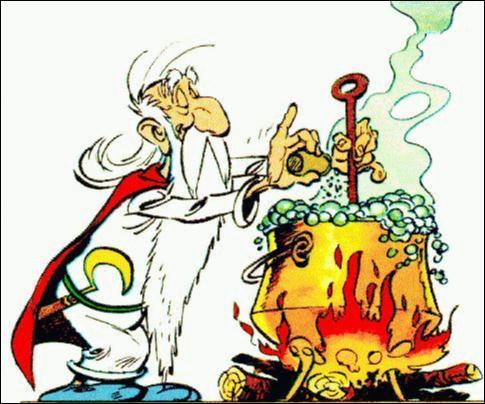 Avec quelle formule magique, le druide Panoramix prépare t-il sa potion ?