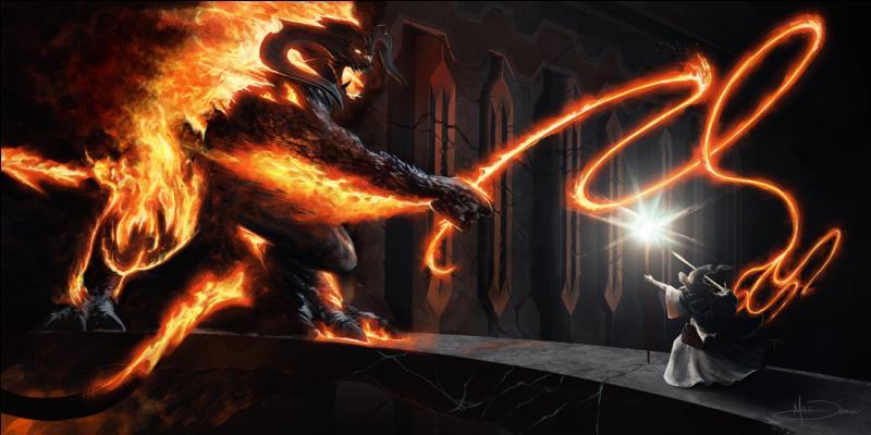 Quel magicien ou magicienne déclare dans un film : Je suis un serviteur du feu secret, détenteur de la flamme d'Anor. Le feu sombre ne vous servira à rien, flamme d'Udûn. Repartez dans l'ombre ! Vous ne passerez pas ?