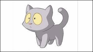 Comment s'appelle le chat de la jeune fille blonde, héroïne de BD ?