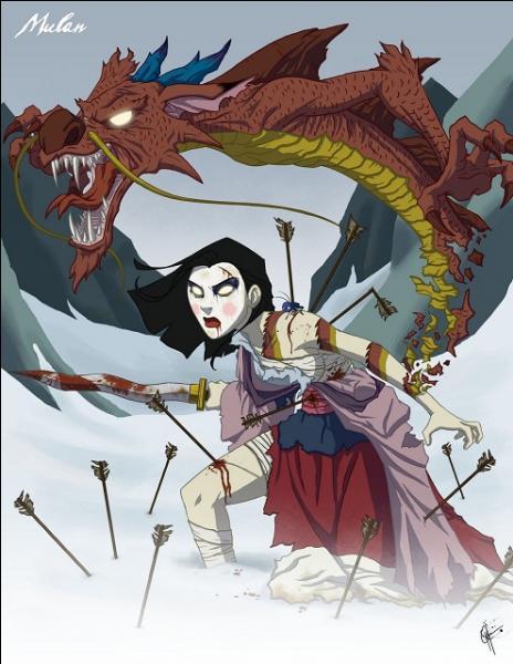 De quel dessin animé provient cette horrifique princesse ?