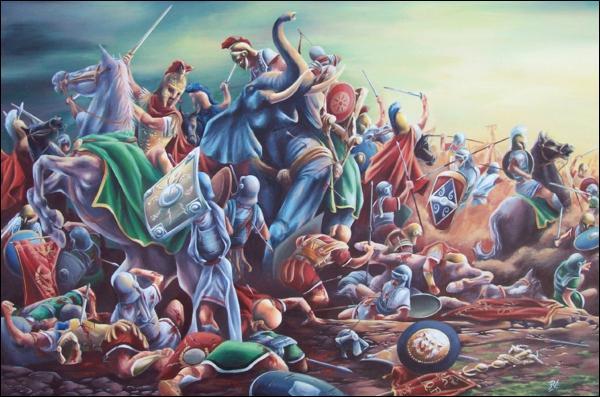 À quelle bataille, le puissant Hannibal et son armée massacrèrent-ils toute une armée romaine où 177 sénateurs perdront la vie parmi 45 000 hommes ?