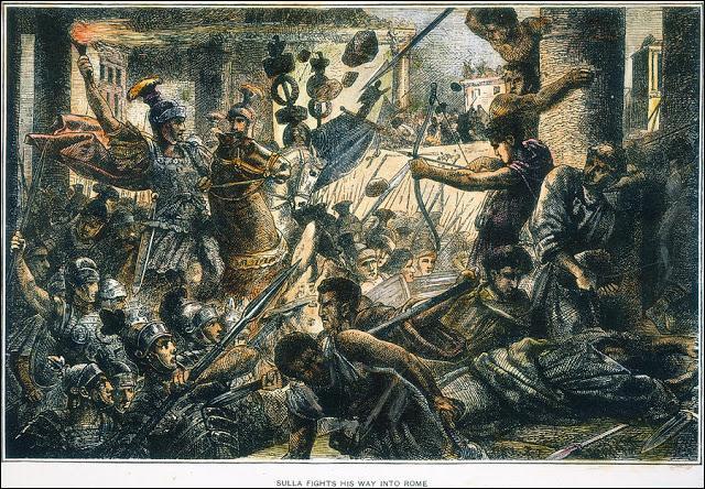 Quel général romain en 82 avant J.-C., ordonna le massacre d'un grand nombre de sénateurs à Rome ?