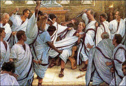 Quel sénateur porta le dernier coup de poignard à Jules César dans le complot fomenté contre lui ?