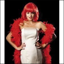 Comment se nomme l'écharpe de plumes portée par les élégantesd'antan et les danseuses de cabaret ?