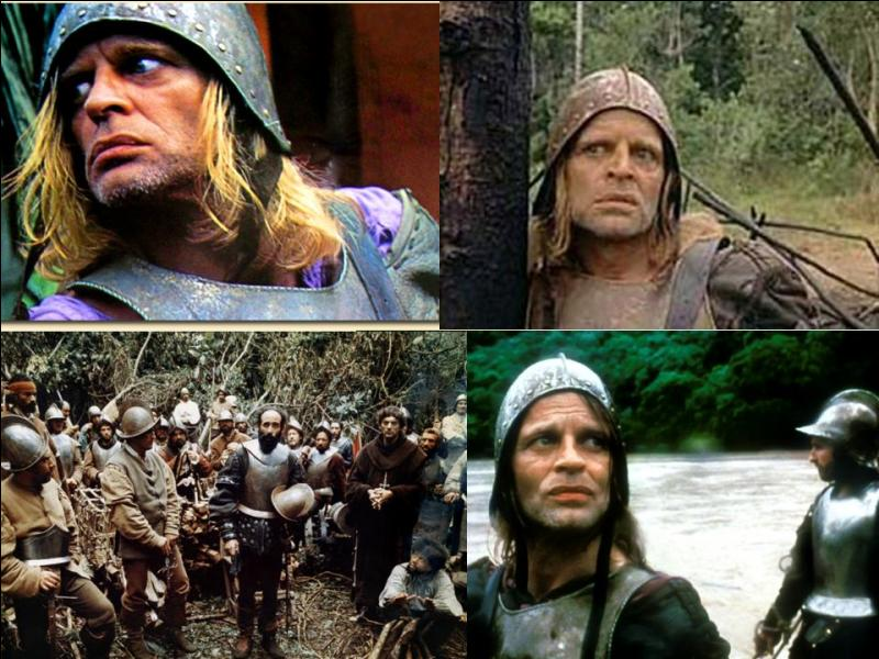 C'est un film de guerre et d'aventures allemand. Il a été réalisé par Werner Herzog.Klaus Kinski, Helena Rojo, Del Negro… font partie de la distribution. Nous sommes pendant l'invasion de l'Amérique du sud par les Espagnols. Un chef militaire se révolte contre le roi. Il part à la recherche du pays de l'or ! Quel est ce film ?