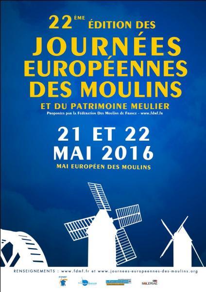La 19e édition des Journées du Patrimoine de Pays et des Moulins a lieu chaque année au mois de mai. Quel sera le thème retenu pour l'année 2016 ?