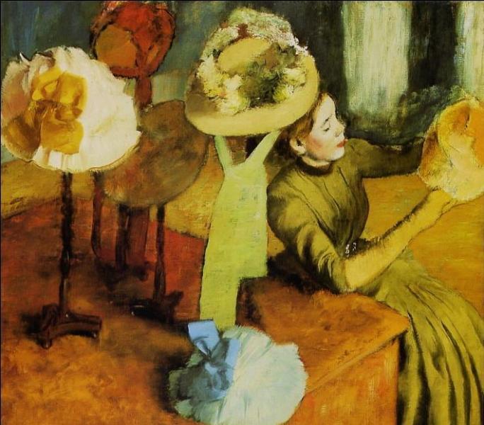 """Qui a représenté, sur cette toile, """"la modiste"""" ?"""