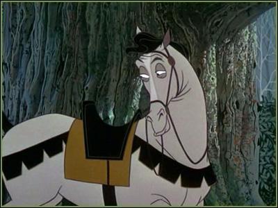 """Dans """"La Belle au bois dormant"""", le prince Philippe a un cheval gris, quel est son nom ?"""