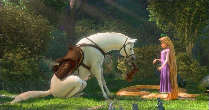 """Comment se nomme ce cheval dans """"Raiponce"""" ?"""