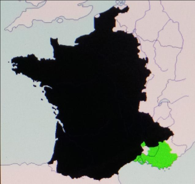 En 1481, la France hérite du comté en vert. Quel est ce comté ?
