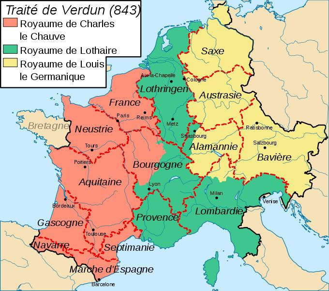 Formation du territoire de la France métropolitaine (843-1947), 1/2