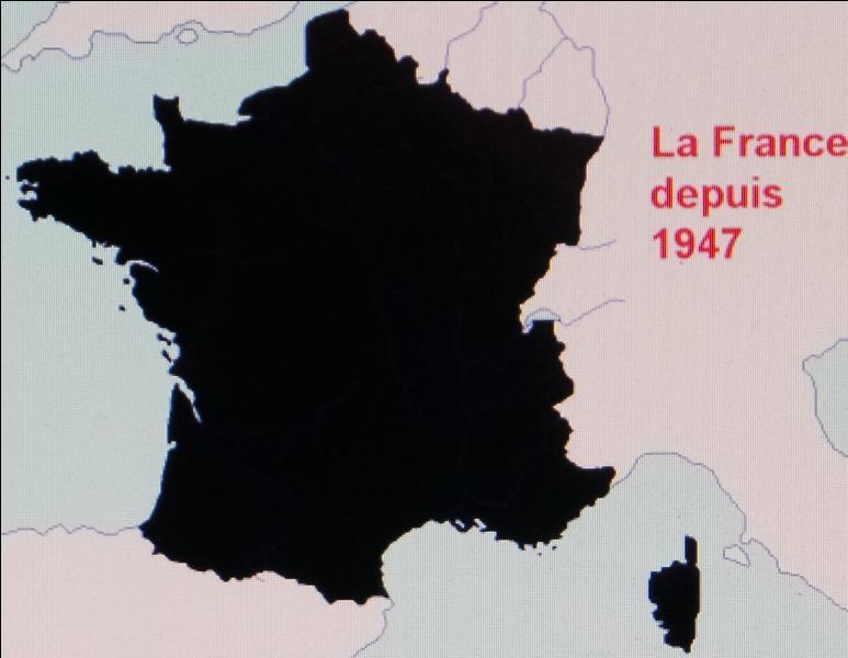 En 1947, la France connaît sa dernière modification de frontière importante dans le Sud-Est. Elle s'agrandit notamment