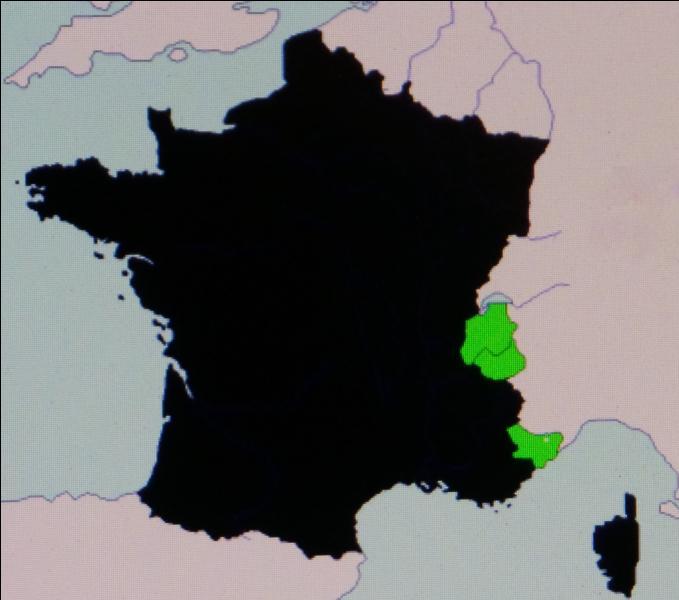 En 1860, en contrepartie de son aide dans l'unification italienne, la France obtient