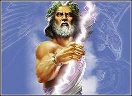 Qui Zeus envoie-t-il sur le mont Olympe après avoir tué les géants ?