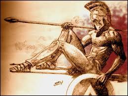 Qui va à Sparte à la recherche du cœur du dieu enchaîné ?