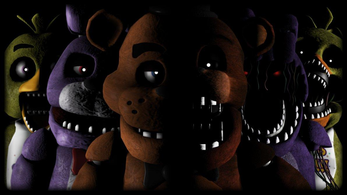 Five Night At Freddy's 1, 2, 3, 4
