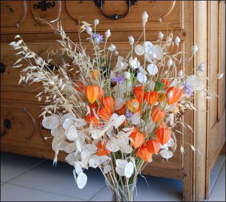 On retrouve ces mêmes fleurs qui se marient à merveille avec les lunaires qu'on appelle plus fréquemment :