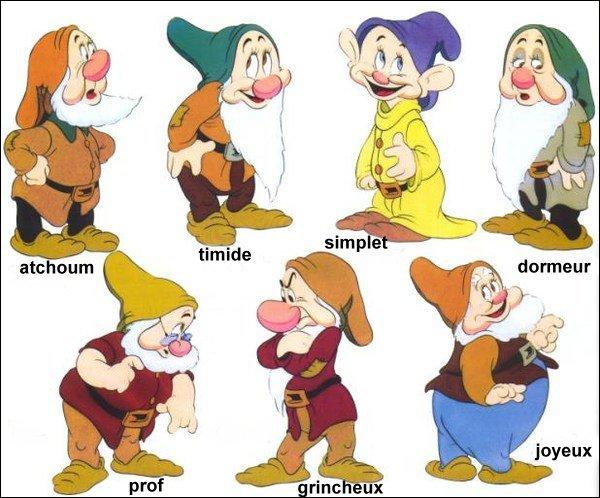 Ces sept petits bonhommes appartiennent à une de ces princesses...