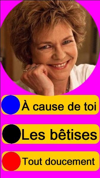 Sur quel bouton, allez-vous appuyer pour écouter Sabine Paturel ?
